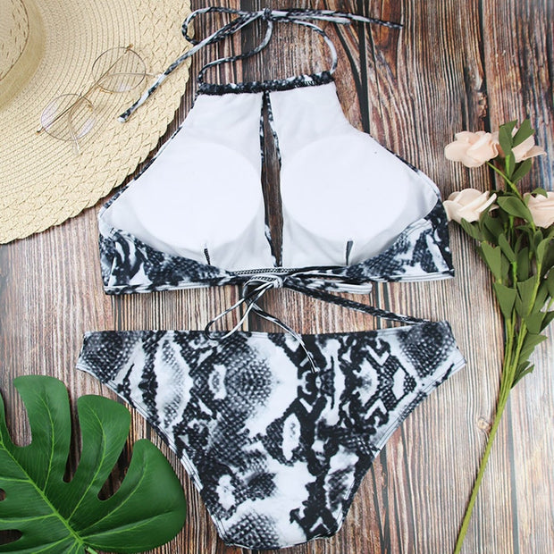 Sexy Spa Beach Bikini Women's Bikini Solid Set Swimsuit Two Piece Filled Bra Swimwear Beachwear 3*