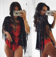 Sexy Women Lace Crochet Bikini Cover Up Tassels Swimwear Bathing Suit Cover 2018 Summer Lace Beach Dress