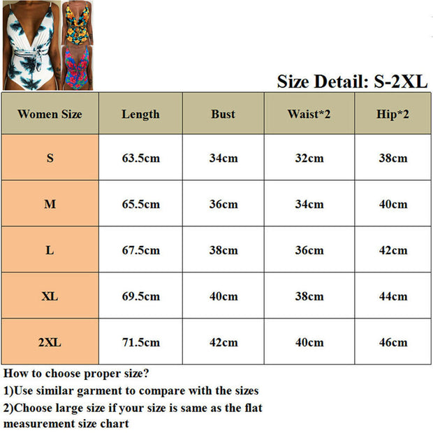 Sexy Women One Piece Swimsuit Monokini Vintage Floral Printed Beach Bikini Suit Summer Holiday Bathing Suit Brazilian Biquini
