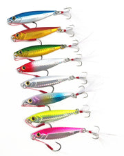 Shore Casting Jig 40g 60g Fishing Lure Jigbait Artificial Lures Slow Shaking Shot Metal Bait Lot 3 Pieces