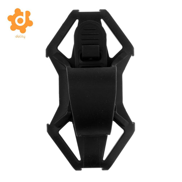 Silicone Motorcycle Bike Bicycle Handlebar Phone Mount Holder Bracket Rack GPS Case Works For 4-6 Inch Smartphones