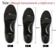Silicone PU Sandwich Mesh Memory Shock Absorber Insole Ultra-comfortable Soft Protective Foot Breathable Massage