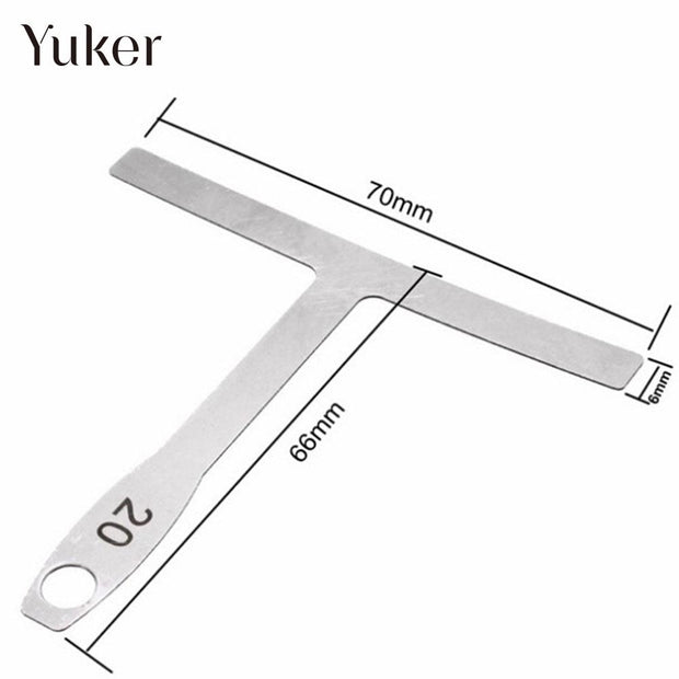 Silver Electric Guitar Card Volume Guide Chord Durable Measuring Caliper Measuring Tool T Type Ruler Practical
