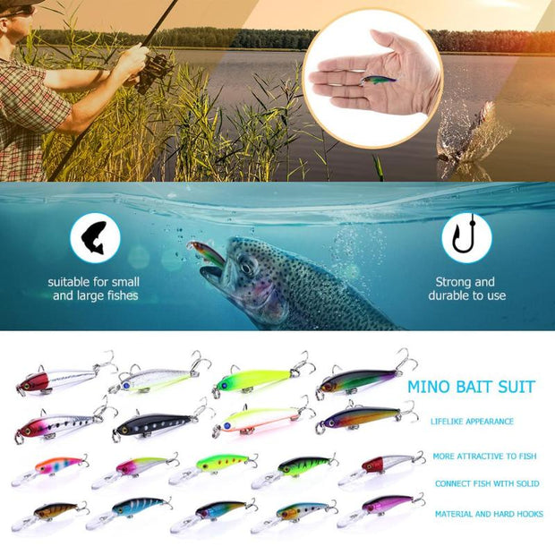 Sinking Pencil 3D Eyes Fishing Lure Hard Bait Diving PVC Minnow Fishing Baits Artifical Crankbait Fish Tackle