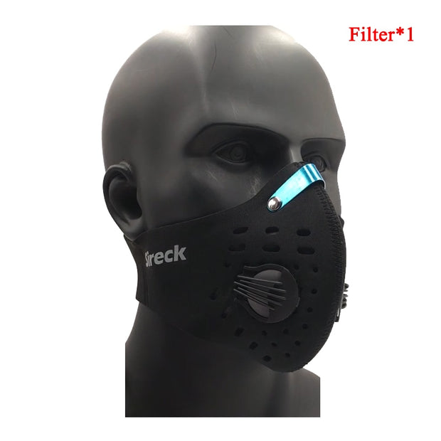 Sireck Cycling Mask With Activated Carbon Filter PM 2.5 Dust-proof Half Training Bicycle Bike Face Mask Pro Running Sport Mask