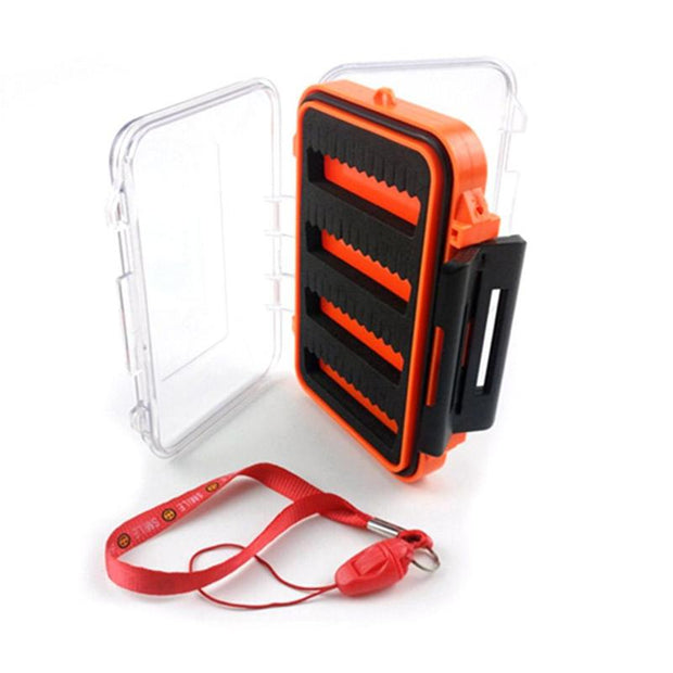 Slit Foam Plastic Fly Fishing Tackle Box Double Side Bait Lure Hook Storage Case Fishing Tackle