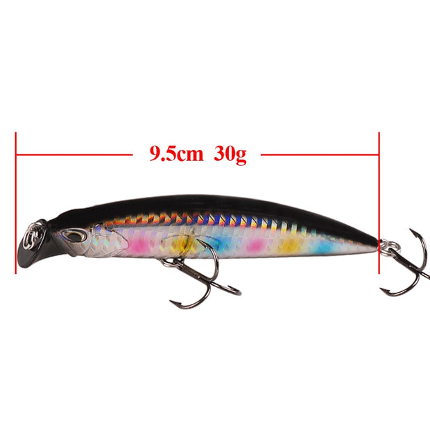 Smart Sinking Minnow Fishing Lures China 95mm 30g 3D Eyes Hard Bait Isca Artificial Fishing Wobblers Saltwater Pesca Accessories