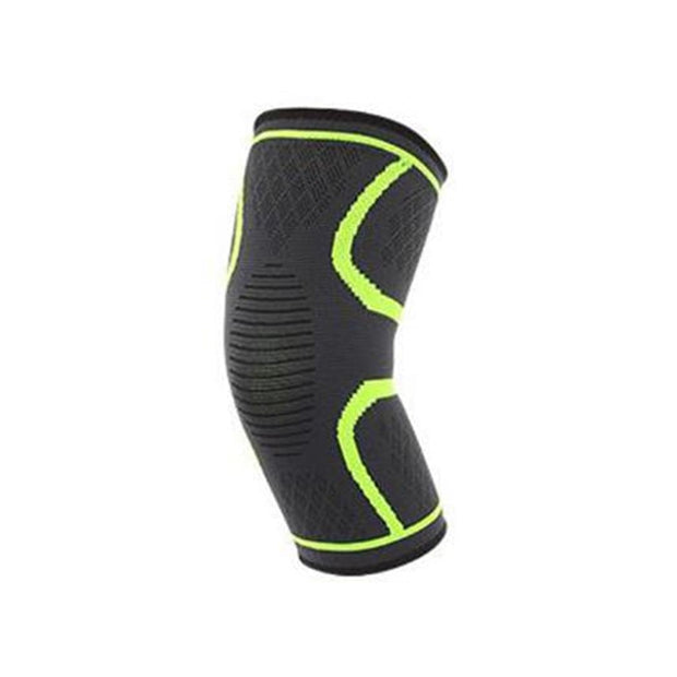Sporting Elastic Patchwork Breathable Compression Knee Sleeve Protect Support Kneepad Unisex