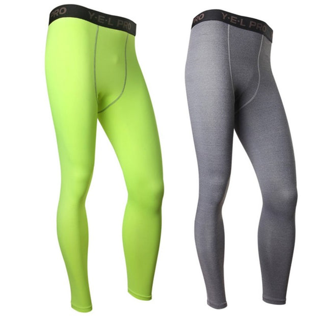 Sports Men Compression Athletic Pants Running Training Fitness Base Layers Skin Fitness Tights Gym Men Leggings