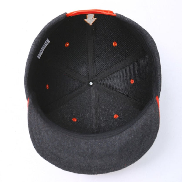 Spring And Fall Snapback Baseball Cap Letter Dad Hat Black Gray Hiphop Full Cap Outdoor Lovers Visors Skateboard Soft Eaves Warm