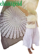 Square Indian Printing Towel Scarve Mandala Tapestry Beach Picnic Throw Rug Blanket Yoga Mat Beach Covers Up Bed Cover Jan3ZYP