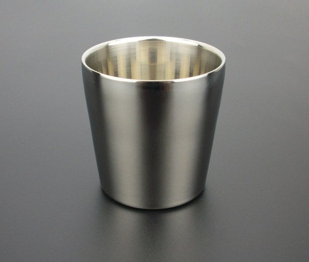 Stainless Steel Camping Cup Water Beer Coffee Tea Cups Outdoor Picnic 175ml Water Cup Drinkware