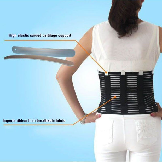 Steel Bodybuilding Lumbar Support High Elastic Breathable Mesh Health Care With Steel Waist Support Back Support Brace Belts