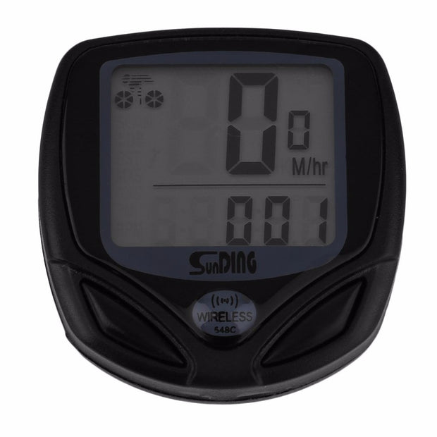 Sunding 1pc Wireless LCD Bicycle Computer Bicycle Meter Speedometer Odometer For Bike Best Black Wholesale