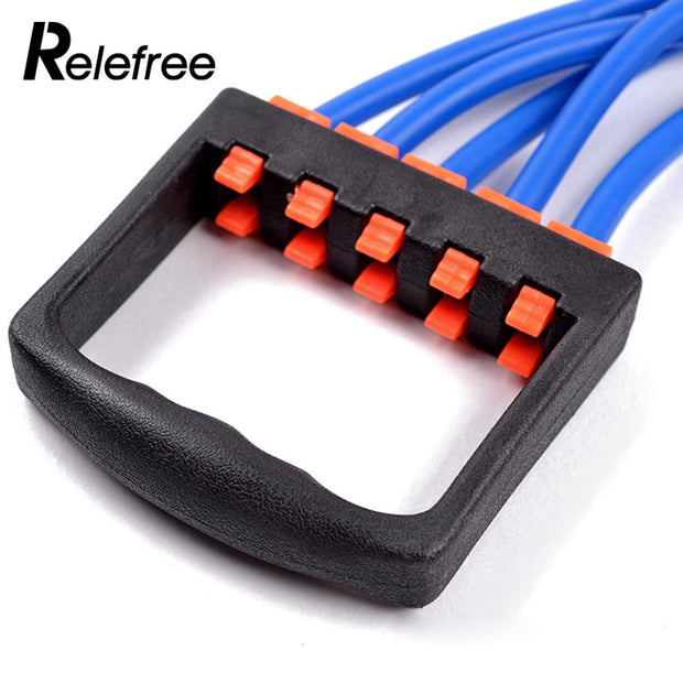 TPE 5 Color Tension Band Elastic Rope Fitness Pull Rope Muscle Training Equipment Chest Expander Portable