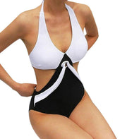 TS#504 Women's Swimwear One Piece Swimsuit Push Up Bikini Patchwork Bathing Suit Free Shipping