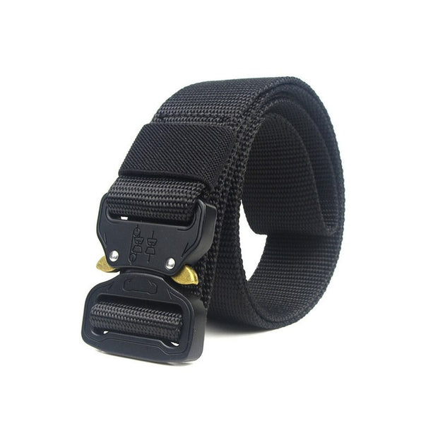 Tactical 120CM Outdoor Military Tactical Belt Solid Buckle Nylon Waist Belts Multicam Molle Automatic Buckle Army Belts