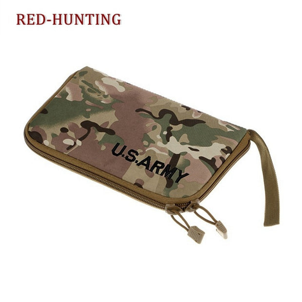 Tactical Pistol Carry Bag Portable Military Handgun Holster Pouch Durable Hand Gun Soft Case Portable Gun Magazine Pouch