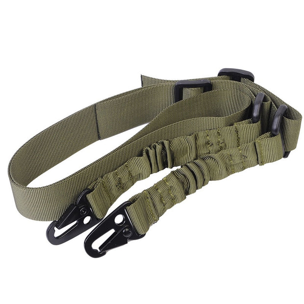 Tactical Two Point Adjustable Rifle Gun Sling Bungee Airsoft Hunting Accessories