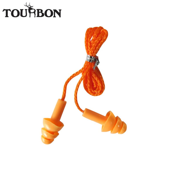 Tourbon Soundproof Ear Shooting Plugs Noise Cancelling Ear Sleeping Hearing Protection Silicon Hunting Earplugs 10pcs