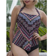 Two Piece Plus Size Swimsuit Women Large Tankini Set Push Up Bathing Suit Female Sport Suit Vintage Bathing Suit Trikini