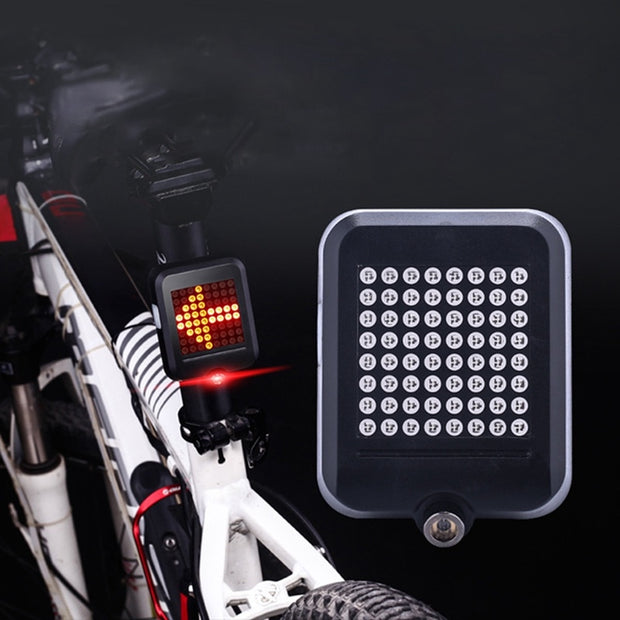 USB Charging Bike Taillight Intelligent Induction Warning Light Steering Brake Safety Warning Cycling Light Rear Flash Lamp