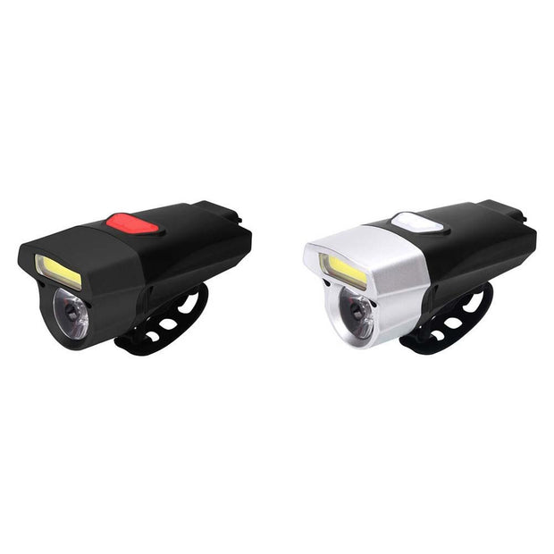 USB Rechargeable Bike Light Front Handlebar Cycling COB Light Battery Flashlight Torch Headlight Bicycle Cycling Accessories