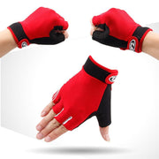 Unisex Adults Patchwork Gloves Half Finger Cycling Gloves