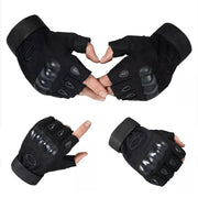 Unisex Casual Soft Half-Finger Cycling Gloves Solid Cycling, Skiing, Outdoor Sport Wrist Gloves