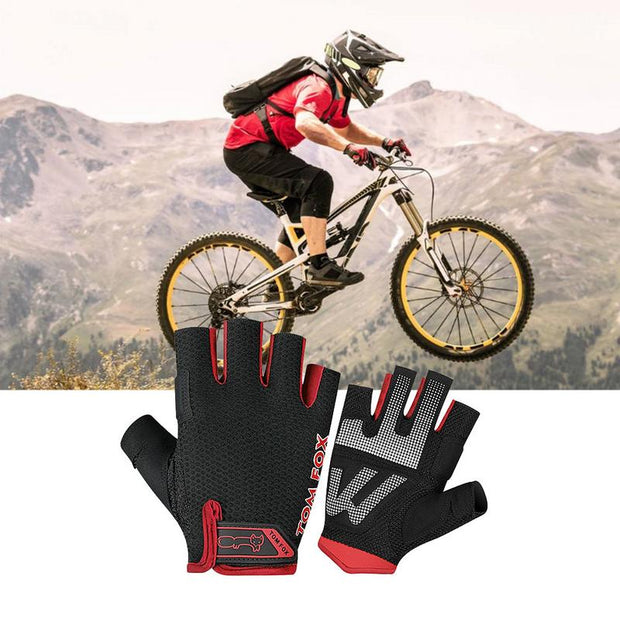 Unisex Cycling Gloves NonSlip Breathable Fingerless Mittens For Fitness Training Gym Dumbbell Outdoor Warm Fitness Gym