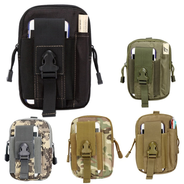Unisex Outdoor Tactical Waist Bag Pack Hanging Bag Outdoor Camping Hiking Pouch Phone Keys Holder Case With Inside Pocket