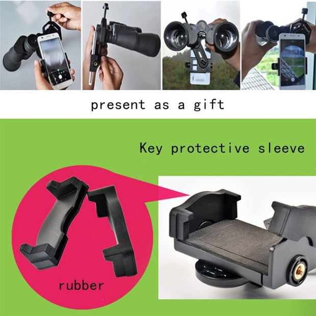 Universal Optical Monocular Telescope Holder Adapter Clip Mount Bracket For Mobile Smart Phone Support Tripod Connection NEW
