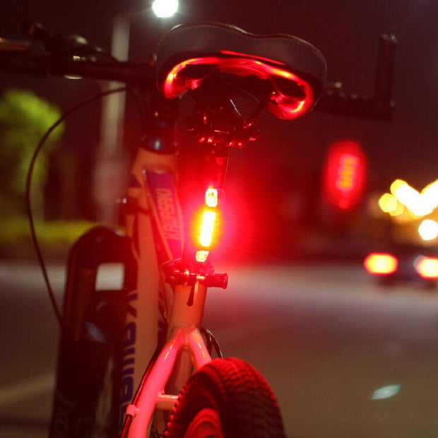 Universal Portable 2 LED USB Rechargeable Bike Bicycle Tail Rear Safety Warning Light Taillight Lamp Super Bright