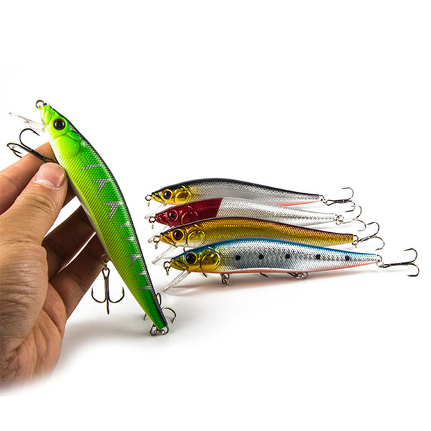 WALK FISH 5Pcs/Lot Fishing Lure Minnow 14 Cm 23.7g Hard Bait With 3 Fishing Hooks Fishing Tackle Lure 3D Eyes Wobblers