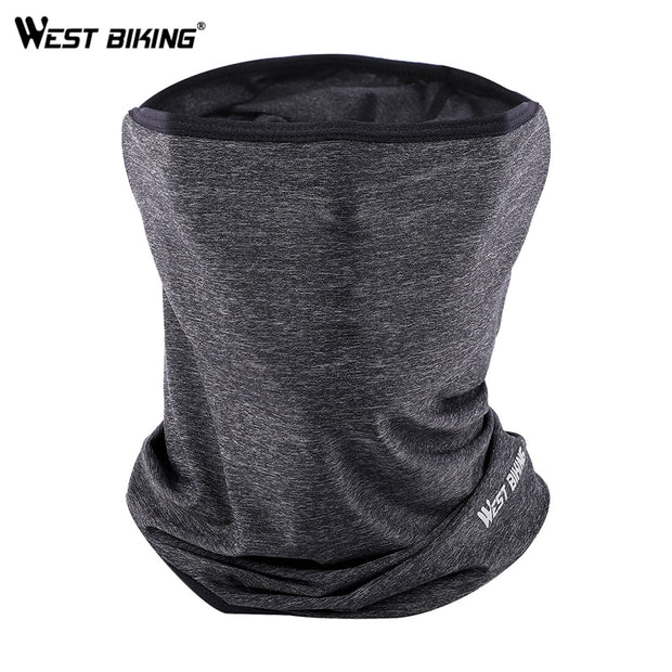 WEST BIKING Summer Breathable Cycling Half Face Mask UV Protection Bicycle Headwear Sports Bike Neck Hood Cover Scarf Face Mask