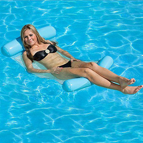Water Hammock Pool Lounger Float Hammock Inflatable Rafts Swimming Pool Air Lightweight Floating Chair Compact And Portable Sw