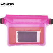 Waterproof Pouch Phone Bag Swimming Bag Money Case With Waist Strap For Beach Swimming Boating Drifting Diving Rowing