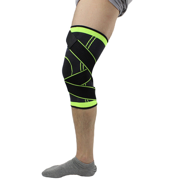 Weaving Pressurization Knee Brace Protective Support Kneelet Cycling Hiking Pad