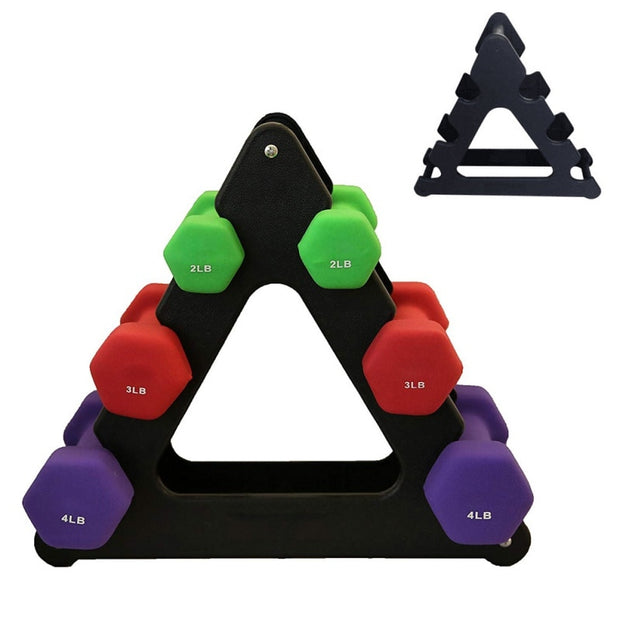Weight Lifting Dumbbell Rack Stands Weightlifting Holder Dumbbell Floor Bracket Home Fitness Exercise Accessories