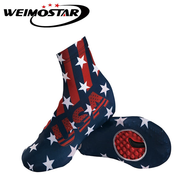 Weimostar Skull USA Outdoor Sports Cycling Shoe Covers Unisex Dustproof MTB Bike Cycling Overshoes Bicycle Shoes M-XL
