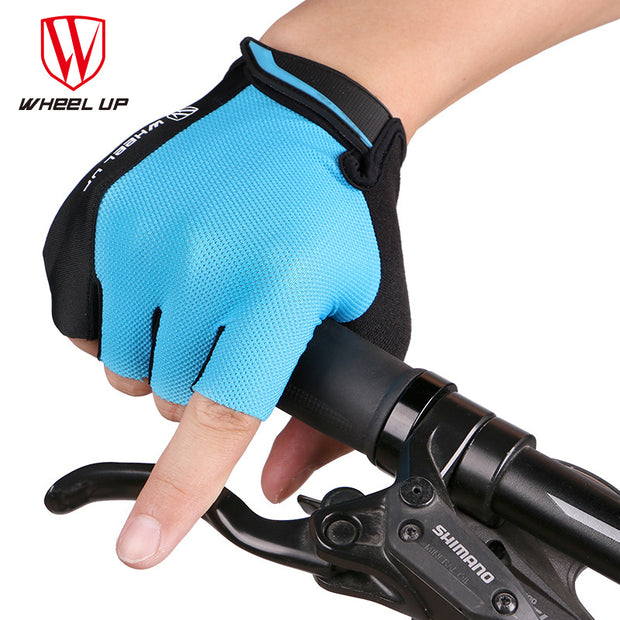 Wheel Up MTB Half Finger Cycling Gloves Mens Summer Sports Bike Gloves Mountain Bicycle Gel Pad Breathable Accessories