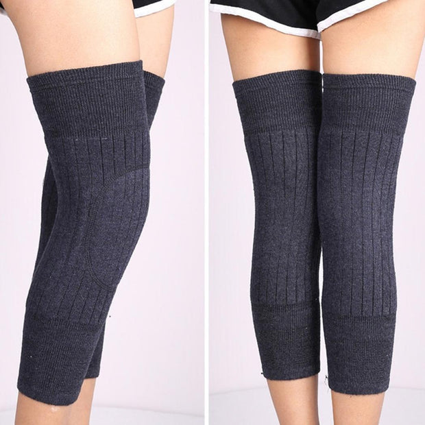 Winter Warm Thermal Legs Knee Sleeve Basketball, Mountaineering, Football, Etc Brace Pads K61 Solid Pullover