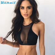 Womail 2017 New Arrival Sexy Women Fitness Running Yoga Sports Bra Girls Underwear Gym Vest Tops Bra Gifts 1PC