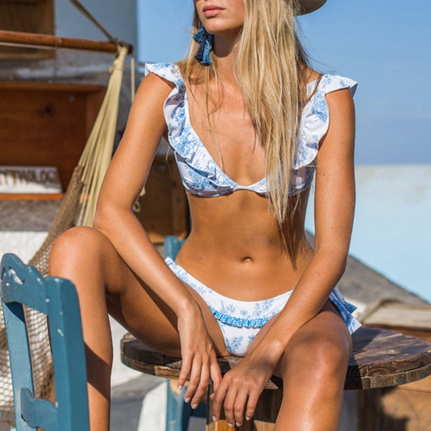 Womail 2019 Bikinis Set Sexy Swimwear Women Print Female Beachwear With Pad Swimwear Women Sexy Bikini Set 2019 New Arrivals#20