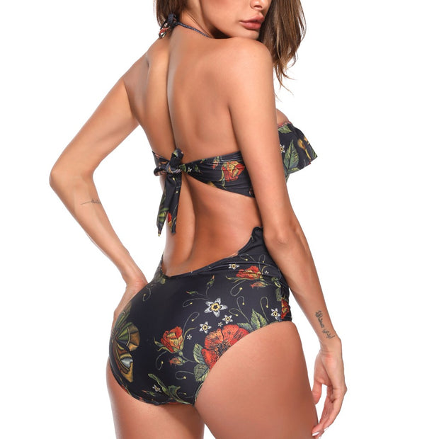 Womail Women's One Piece Beach Swimsuit Swimwear Bathing Monokini Push Up Padded Bikini Bathing Suit Women High Waist Biquini @4