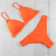 Womail Women's Two Pieces Bikini Set Solid Padded Push Up Swimwear Swimsuit Sexy Swimwear Women Saida De Banho Bikinis Mujer