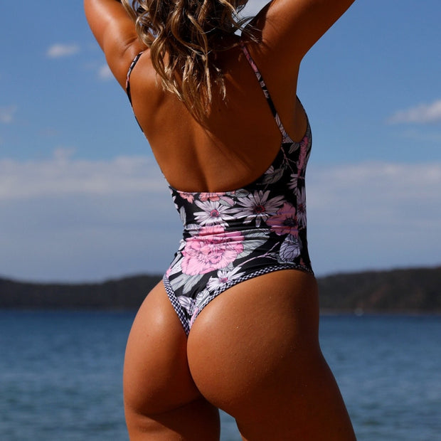 Woman Bikini 2019 Sexy Women Hot Sale One Piece Print Swimsuit Push Up Padded Bikini Swimwear Cover Up Dropping Stroje Kapielowe