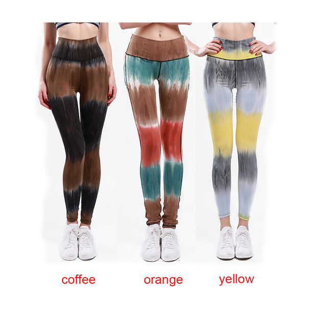 Women Elastic High Waist Yoga Pants Fitness Bodybuilding Lady Yoga Sport Leggings Running Trousers Sport Tights Pant