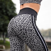 Women High Waist Yoga Leopard Wing Print Legging Running Sports Pants Trouser Fitness Slim Outdoor Workout Tights Sportwear