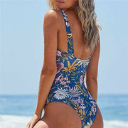 Women One-Piece Swimsuit Floral Print Beachwear Swimwear Push-up Monokini Bikini Brazilian Triangle Bathing Suit Maillot De Bain